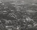 Aerial view of the campus of the University of Alabama.