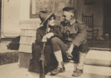 Henry Alonzo Onderdonk with his sister.