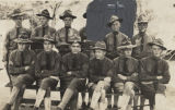 William Otis Wells with a group of other soldiers.