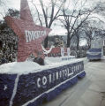 Covington County float in Governor Jim Folsom's inaugural parade in Montgomery, Alabama.