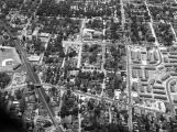 Aerial view of the Houston Hill housing development and surrounding streets in Montgomery, Alabama.