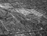 Aerial view of housing developments near Cramton Bowl and Paterson Field in Montgomery, Alabama.