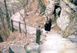 Mr. and Mrs. Roy Farnell on a stone path in the woods that goes up Lookout Mountain.