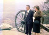 Mr. and Mrs. Roy Farnell near a cannon from Garrity's Alabama Battery.
