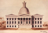 Original design of Alabama State Capitol by Stephen D. Button, an architect in Philadelphia,...