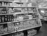 Shelves of cleaning products at Robinson's Market in Montgomery, Alabama.