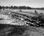 Construction of a highway in rural Alabama by U.S. Steel.