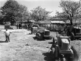 Alabama Machinery and Supply Company display outside Fort Dixie Graves in Montgomery, Alabama, at...