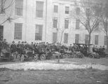 Members of the Montgomery Automobile Club lined up in their cars in front of the Capitol in...