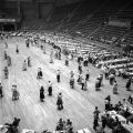 Couples dancing during the Alabama Road Builders Association party at Garrett Coliseum in...