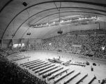 Large gathering of Jehovah's Witnesses at Garrett Coliseum in Montgomery, Alabama.