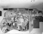 Nathan Glick mural depicting the Philippines in 1945.