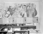 Nathan Glick mural depicting American sailors in a bar.