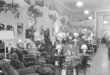 Interior of the Haverty furniture store in Montgomery, Alabama, during the holiday season.