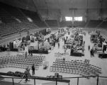 Booths at the 1956 Alabama Retail Hardware Association convention at Garrett Coliseum in...