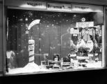 Christmas display window for the Pittsburgh Paints store in Montgomery, Alabama.