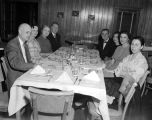 Guests seated at the table at a dinner given by Jefferson Standard Life Insurance Company in...