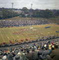 Marching band performing during halftime of the Blue-Gray game at Cramton Bowl in Montgomery,...