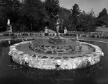 Fountain and statue at Jasmine Hill, a twenty-acre garden and outdoor museum of classical...