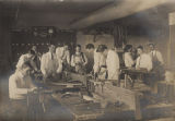 Students in a carpentry class at the State Normal School in Jacksonville, Alabama.