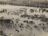 Aerial view of Keego, Alabama, after the Conecuh River flooded.