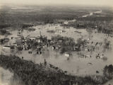Aerial view of Pollard, Alabama, after the Conecuh River flooded.