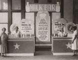 Milk bar at a WPA health fair.