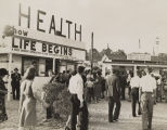 Health exhibit, probably at a fair in Jefferson County, Alabama.
