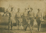 Raymond Brown and other members of the Alabama National Guard in camp.