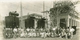 Employees who assisted in the construction of the TVA substation at Wilson Dam on the Tennessee...