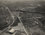 Aerial view of Montgomery, Alabama, looking south.