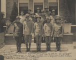 Officers of the U.S. Guard, Fourth Battalion, National Army, in New Orleans, Louisiana.