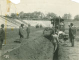 Construction work at Cramton Bowl in Montgomery, Alabama.