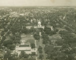 Aerial view of the Capitol in downtown Montgomery, Alabama.