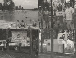 Four photographs of campers at Wind Creek State Park on Lake Martin in Tallapoosa County, Alabama.