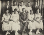 Principal I. J. Whitley with the 1921 graduating class of the Mobile County Training School in...