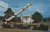 """Army's Zeus Missile Against an Old Southern Background."""