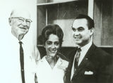 George Wallace with a man and woman at Foster Auditorium, University of Alabama.
