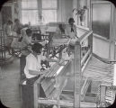 Students in a weaving class at Tuskegee Institute in Tuskegee, Alabama.
