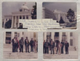 Members of the American Agriculture Movement, on the steps of the Capitol in Montgomery, Alabama.