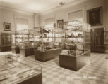 Displays in the military gallery at the Alabama Department of Archives and History in Montgomery,...