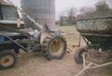 Andrew Datcher on a tractor on the family farm in Harpersville, Alabama.