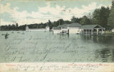 """East Lake showing Boat and Bath Houses."""