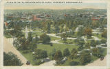 """A View of Capitol Park from Roof of Ridgely Apartments, Birmingham, Ala."""