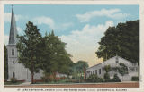 """St. Luke's Episcopal Church (left) and Parish House (right), Jacksonville, Alabama."""