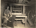 Mrs. Taylor with her loom and spinning wheel near Sheffield, Alabama.