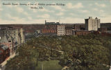 """Bienville Square showing a few of Mobile's prominent buildings, Mobile, Ala."""