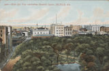 """Birds Eye View overlooking Bienville Square, Mobile, Ala."""
