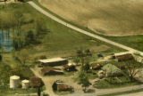 Aerial view of the Datcher farm in Harpersville, Alabama.