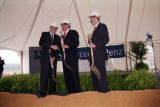 Governor Jim Folsom, Jr., and others, holding shovels at the groundbreaking ceremony for the...